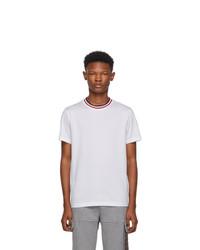 T-shirt girocollo bianca di Moncler