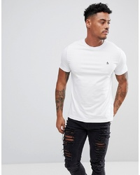 T-shirt girocollo bianca di Original Penguin