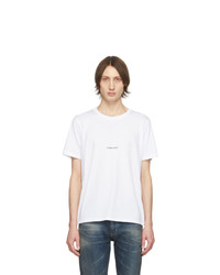 T-shirt girocollo bianca di Saint Laurent
