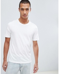 T-shirt girocollo bianca di Selected Homme