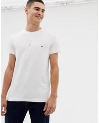 T-shirt girocollo bianca di Tommy Hilfiger