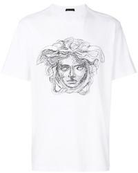 T-shirt girocollo bianca di Versace