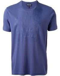 T-shirt girocollo blu