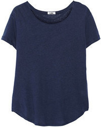 T-shirt girocollo blu scuro