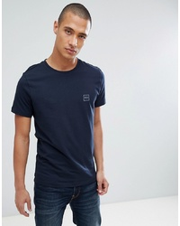 T-shirt girocollo blu scuro di BOSS