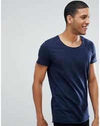 T-shirt girocollo blu scuro di Jack & Jones