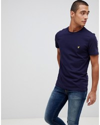 T-shirt girocollo blu scuro di Lyle & Scott