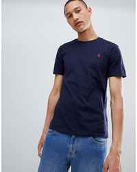 T-shirt girocollo blu scuro di Polo Ralph Lauren