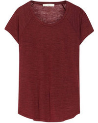 T-shirt girocollo bordeaux