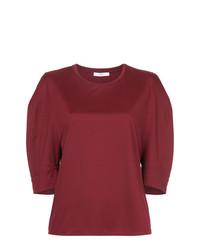 T-shirt girocollo bordeaux di ASTRAET