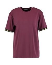 T-shirt girocollo bordeaux di DAY