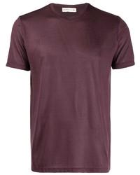 T-shirt girocollo bordeaux di Etro
