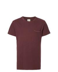 T-shirt girocollo bordeaux di Kent & Curwen