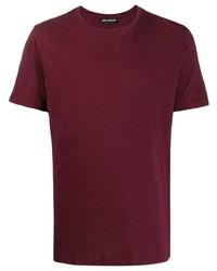 T-shirt girocollo bordeaux di Neil Barrett