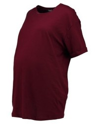 T-shirt girocollo bordeaux di New Look