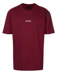 T-shirt girocollo bordeaux di Off Duty