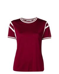 T-shirt girocollo bordeaux di T by Alexander Wang