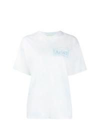 T-shirt girocollo effetto tie-dye bianca di ARIES