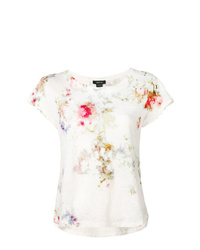 T-shirt girocollo effetto tie-dye bianca di Avant Toi