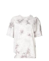 T-shirt girocollo effetto tie-dye bianca di Le Ciel Bleu