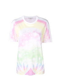 T-shirt girocollo effetto tie-dye bianca di Stella McCartney