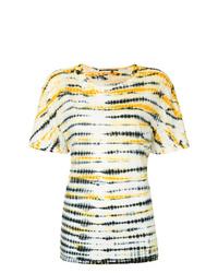 T-shirt girocollo effetto tie-dye gialla di Proenza Schouler