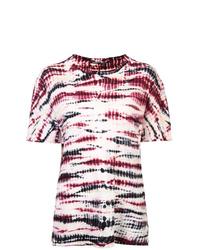 T-shirt girocollo effetto tie-dye multicolore di Proenza Schouler