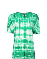 T-shirt girocollo effetto tie-dye verde menta di Proenza Schouler