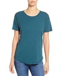 T-shirt girocollo foglia di tè