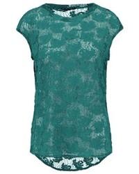 T-shirt girocollo foglia di tè di Sisley