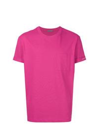 T-shirt girocollo fucsia