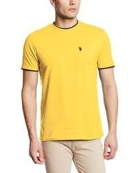 T-shirt girocollo gialla