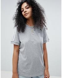 T-shirt girocollo grigia di adidas Originals