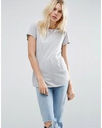 T-shirt girocollo grigia di Asos