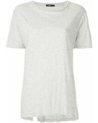 T-shirt girocollo grigia di Bassike