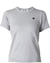 T-shirt girocollo grigia di Comme des Garcons