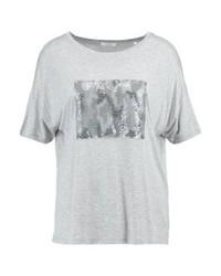 T-shirt girocollo grigia di KIOMI