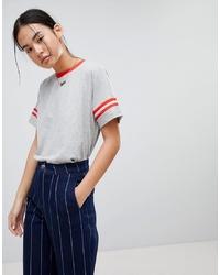 T-shirt girocollo grigia di Noisy May