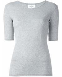 T-shirt girocollo grigia di THE WHITE BRIEFS