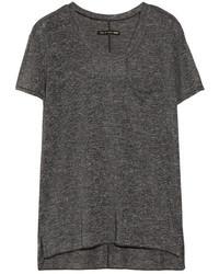 T-shirt girocollo grigio scuro
