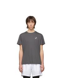 T-shirt girocollo grigio scuro di Asics
