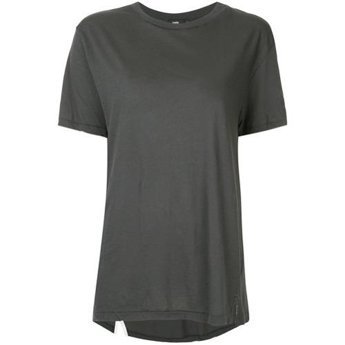 T-shirt girocollo grigio scuro di Bassike