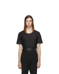 T-shirt girocollo grigio scuro di Deepti