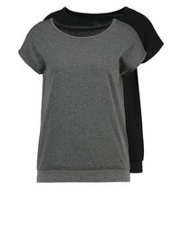 T-shirt girocollo grigio scuro di Even&Odd