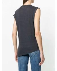 T-shirt girocollo grigio scuro di Isabel Marant Etoile