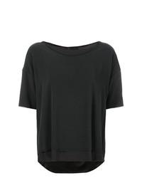 T-shirt girocollo grigio scuro di Kristensen Du Nord