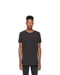 T-shirt girocollo grigio scuro di Ksubi