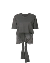 T-shirt girocollo grigio scuro di Lost & Found Rooms