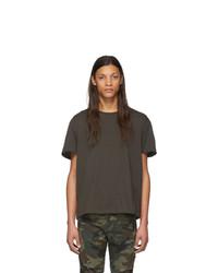 T-shirt girocollo grigio scuro di R13