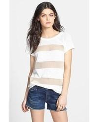 T-shirt girocollo in rete bianca